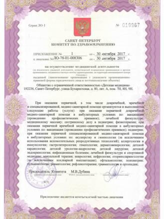 Лицензия ООО Детская медицина_30.10.2017-2
